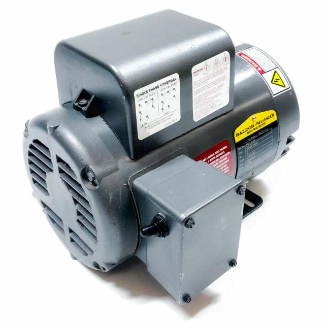 115//230 AC 60hz  1 phase BALDOR NEW ELECTRIC MOTOR # L1304  1//2 HP