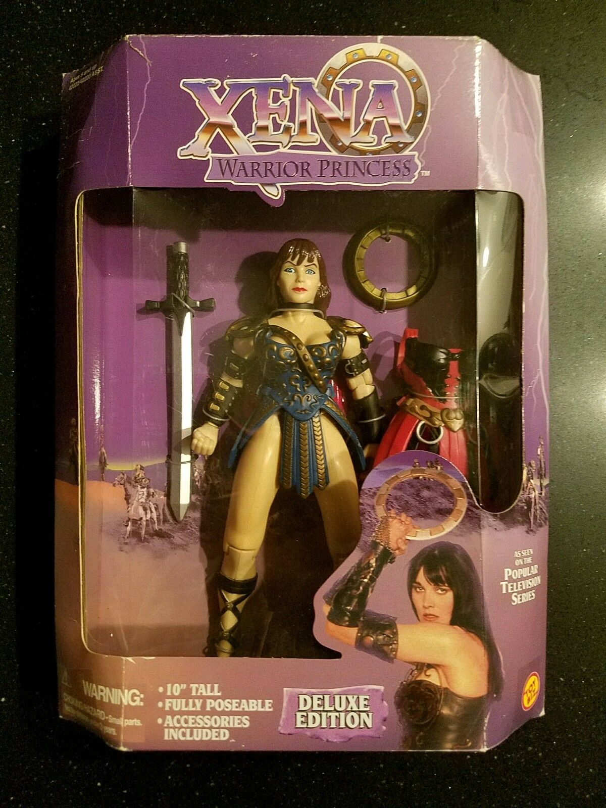 "XENA WARRIOR PRINCESS RARE 10/"" DELUXE EDITION MINT IN BOX NEW TOY BIZ FROM 1996"