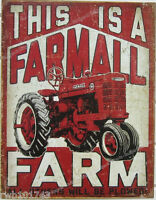 This Is A Farmall Farm Tin Sign Metal Poster Vintage M Tractor Garage Decor 2001