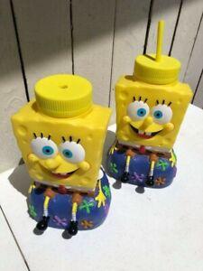 2-SpongeBob-Squarepants-Refillable-Water-Bottles-Universal-Studios-2002-9-034