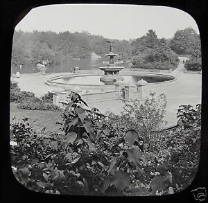Glass-Magic-Lantern-Slide-THE-LAKE-CENTRAL-PARK-C1890-NEW-YORK-NY-USA