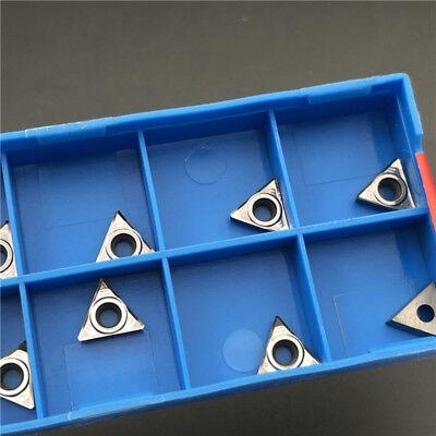 1 CNC Carbide Inserts For Aluminum Copper NEW 10* TCGT090204-AK H01 TCGT1.8 1.5