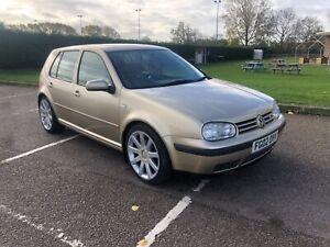 2002 Gold/Beige VW Golf Mk4 V6 4 Motion 4 wheel drive 2.8 5 door hatchback