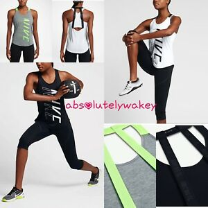 Nike-Breathe-Elastika-Dry-Women-039-s-Training-Running-Gym-Strappy-Tank