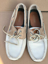 Sperry Top Sider Size 8.5 Men Slip On Boat Shoes White