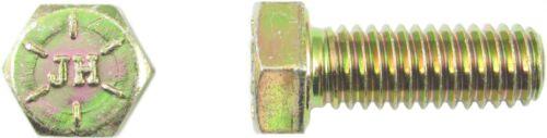 Sechskantschraube 3//8-16 UNC x 1 3//8 Grd.8 gelb verzinkt Hex Head Cap Screw FT