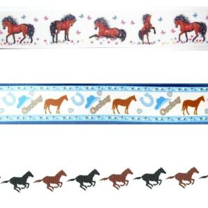 HORSE-ANIMAL-PRINTS-By-the-Yard-Ribbon-Trim-for-Scrapbooking-amp-Hair-Bow-Making