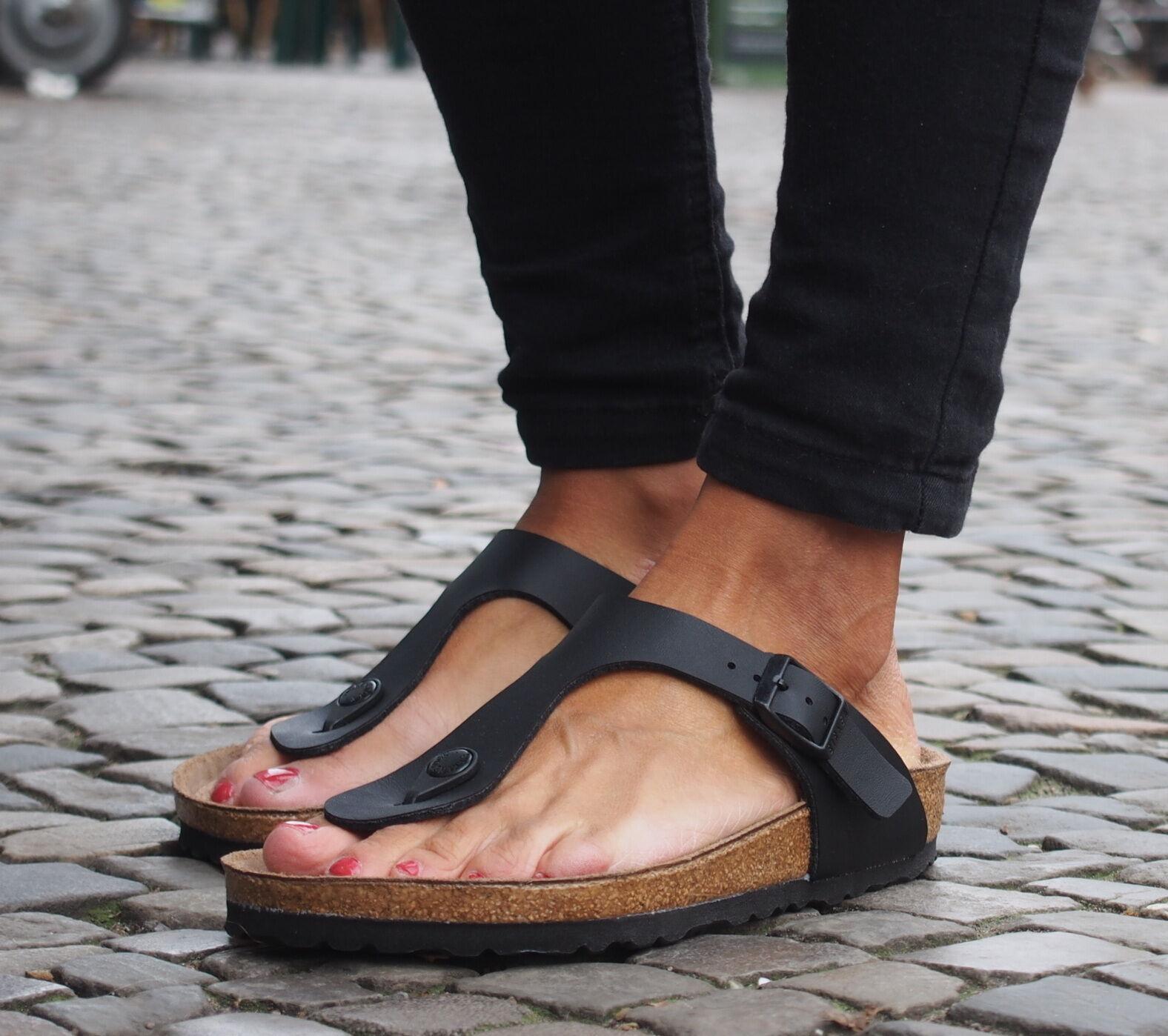 Birkenstock GIZEH BF schwarz schwarz Damen Sommerschuhe Birkoflor 691 NEU Sandale