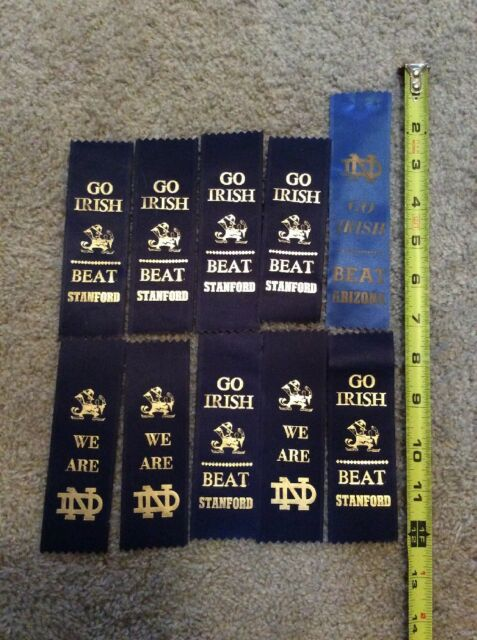 10 NOTRE DAME FOOTBALL GAME DAY RIBBONS: BEAT ARIZONA, STANFORD.. WE ARE ND