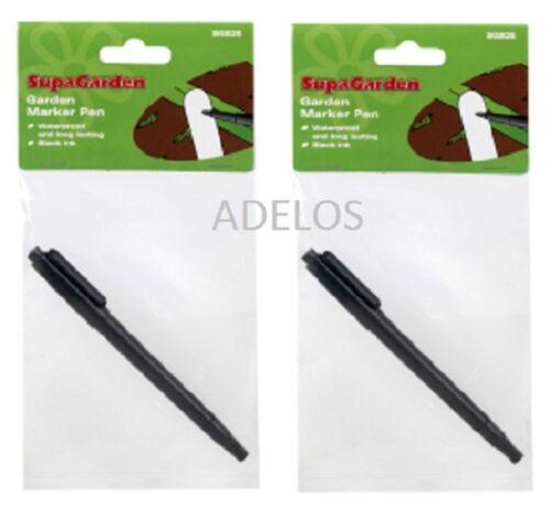 Black ink 2 x Garden Plant Label Waterproof Marker Pen