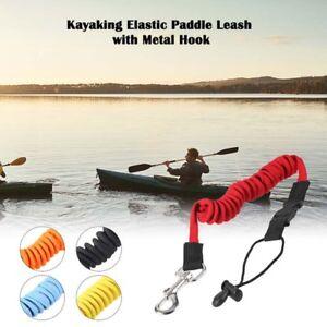 Safety-Kayak-Canoe-Boat-Paddle-Leash-Fishing-Rod-Coiled-Lanyard-Cord-Elastic-US
