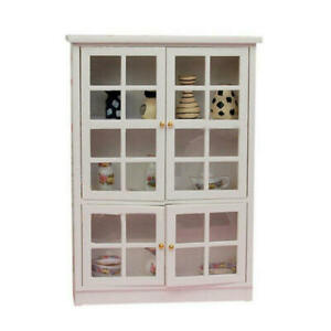 1-12-Dollhouse-Miniature-Furniture-Kitchen-Dining-Cabinet-Display-Shelf-fds-ZZJ