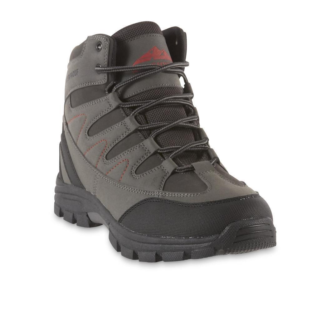 Northwest Territory Men's Baden Gray Hiking Boot waterproof Synthetic leather