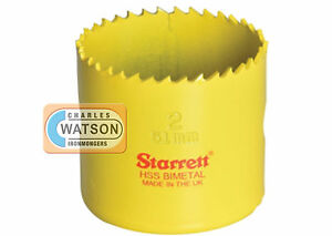 Starrett-51mm-Holesaw-High-Speed-Steel-Bi-Metal-Hole-Saw-HSS-Wood-Metal-Plastic