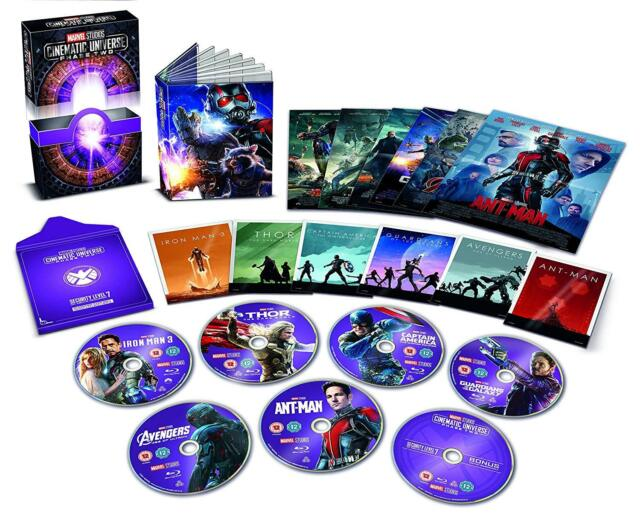 Marvel Studios Collector's Edition Box Set fase 2 dos Blu-ray 6 película cinematográfica