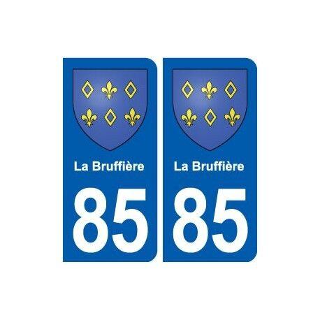 85 La Bruffière blason autocollant plaque stickers ville droits