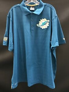 4ffb2851b MIAMI DOLPHINS TEAM ISSUED NAVY DRI-FIT NIKE COACHES SIDELINE POLO ...