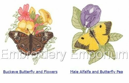 MACHINE EMBROIDERY DESIGNS ON CD OR USB BUTTERFLIES COLLECTION 1