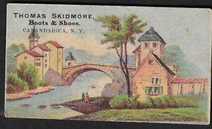 1880's Canandaigua,NY - Thomas Skidmore Boots & Shoes Advertising Card