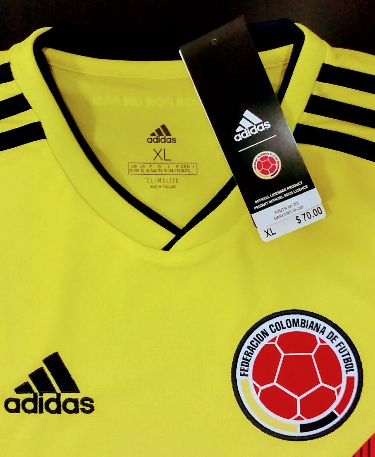 cheap for discount 056ae bffcf SOCCER YOUTH NEW ADIDAS JERSEY JERSEY JERSEY COLOMBIA TEAM ...