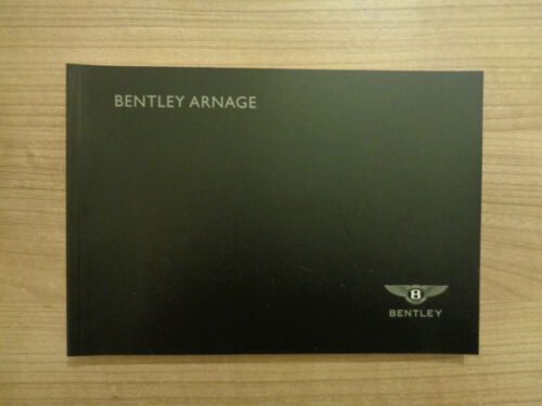 Bentley Arnage NEW Service History Book