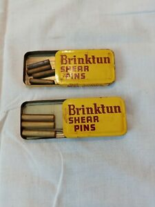 VTG BRINKTUN SHEAR PINS LOT OF 2 TINS W/ PINS 2 SIZES OUTBOARD ACCESSORIES BX-2