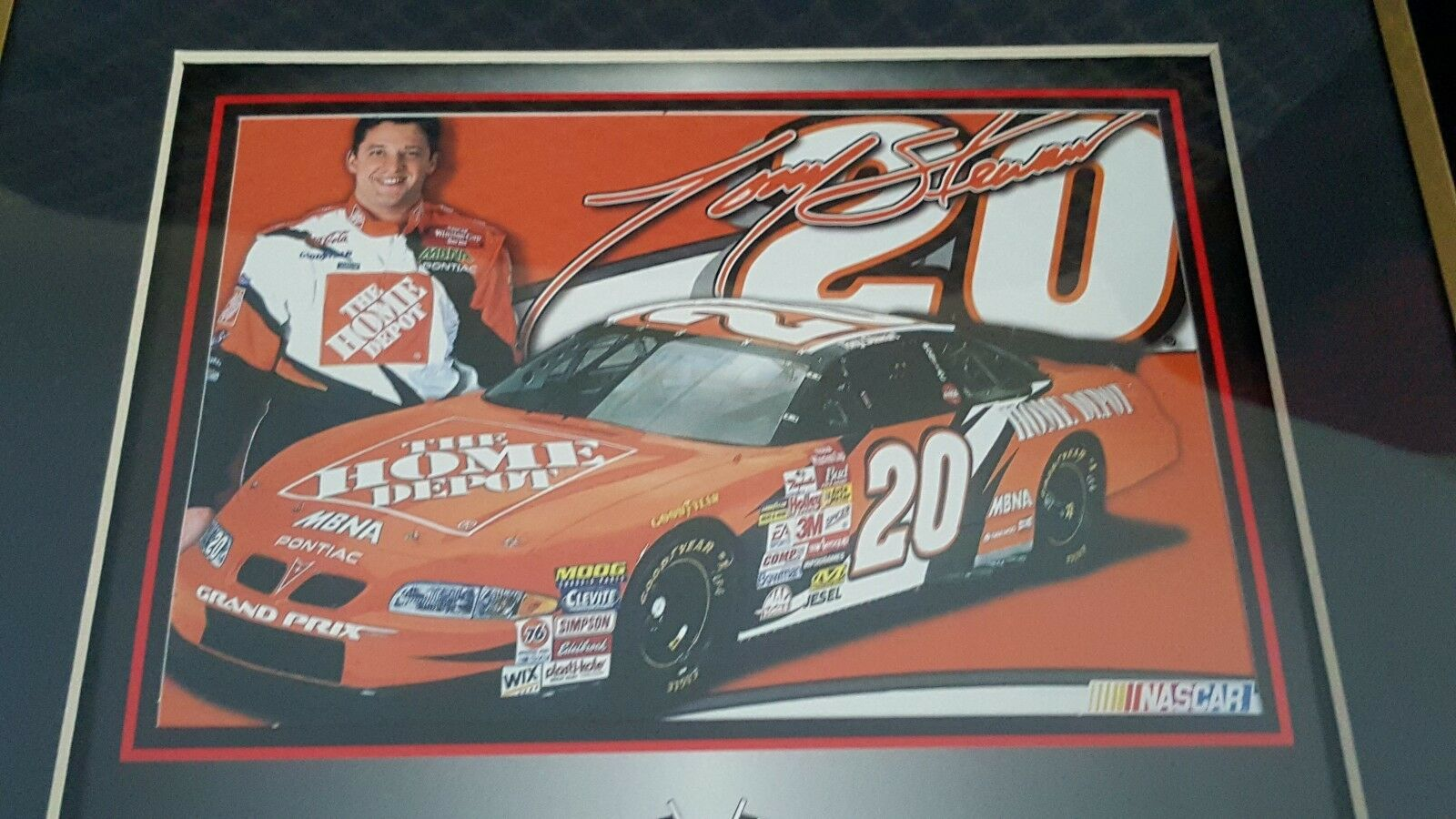 Tony Stewart Mounted Memories Framed 2003 Photo Photo Photo w Piece of Tire from race 3539a4