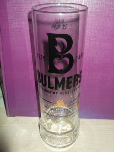Bulmers Cider tall Pint to Line glass and beer mat