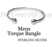 Mens London Hallmark Torque Bangle Special Gift 925 Sterling Silver £80 Off