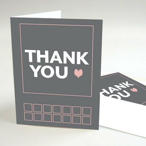 100 Times Square Personnalisé Mariage Thank You notes
