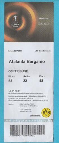 ATALANTA BERGAMO  !! Orig.Ticket   Europa League  2017//18  BORUSSIA DORTMUND