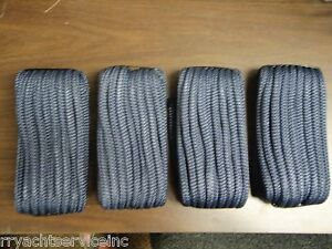 "DOUBLE BRAID DOCK LINE  5/8"" X 35FT NAVY  50-39881  4 PAC 15"" EYE SPLICE BOAT"