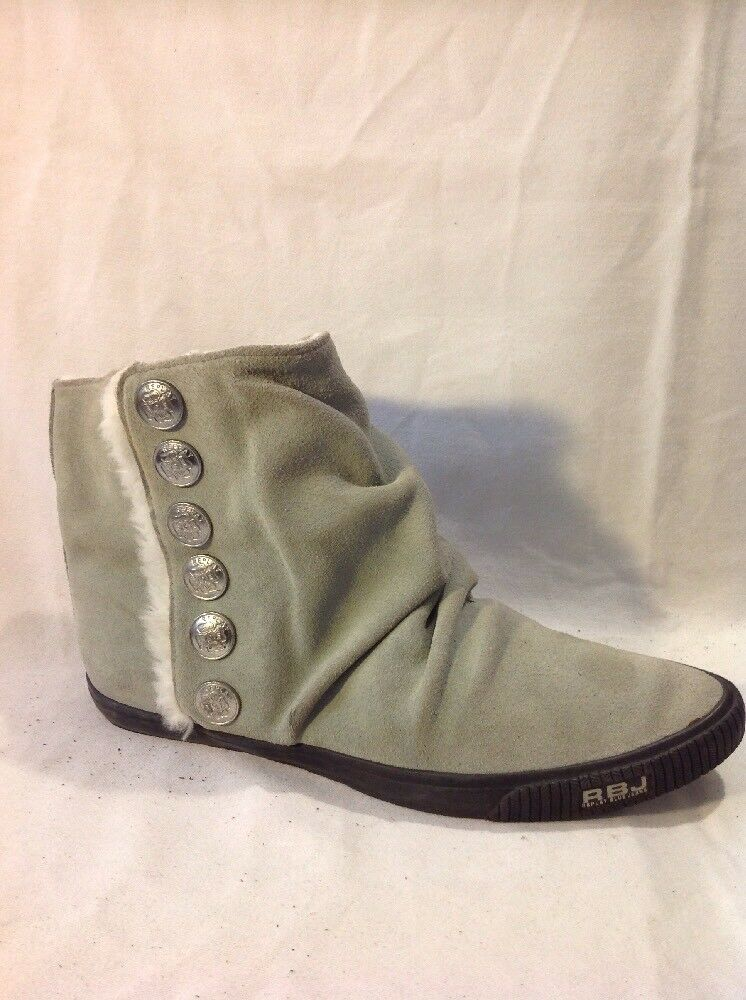 Replay Blue Jeans Green Ankle Suede Boots Size 38