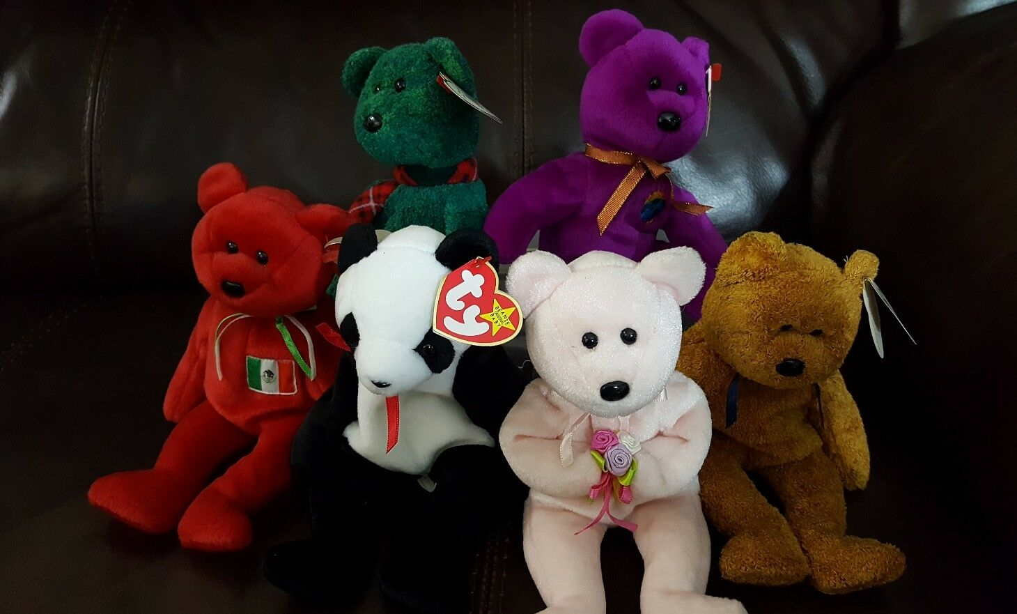 Set of 6 TY Bennie Babies