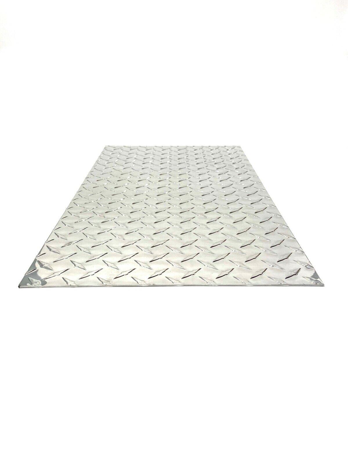 "1//8/"" 3003 Aluminum Diamond Plate Sheet 12.5/"" x 12.5/"""