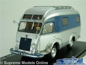 LibéRal Renault 1400 Kg Model Camper Van 1:43 Scale Ixo Motor Home Digue Silver K8 Ferme En Structure