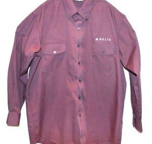 Details About New Mens Delta Airlines Cintas Work Uniform Button Down Dress Shirt Size Xl