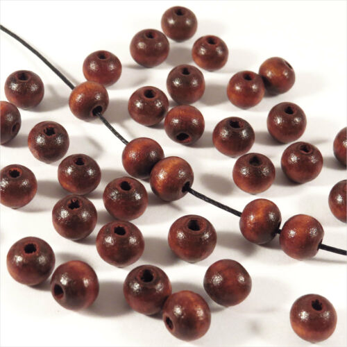 Lot of 100 Beads wooden 8mm jewelry Finish French Several colors