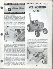 Vintage Wheel Horse Parts List Amp Instr Side Mounted Sickle Model 7 1311 7 1312