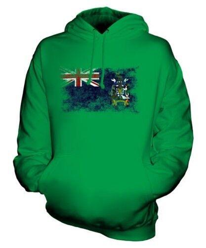 Südafrika Georgia Distressed Flagge Unisex Kapuzenpulli Top Geschenk Kleidung