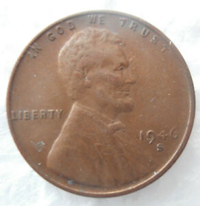 Details about 1946 S Wheat Penny Error