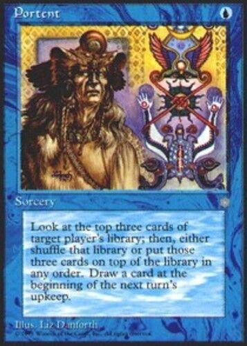 4 Portent ~ Near Mint Ice Age 4x x4 Playset UltimateMTG Magic Blue Card