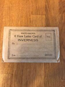VINTAGE POSTCARD ALBUM LETTER CARD 6 VIEW INVERNESS - East Ruston, Norfolk, United Kingdom - VINTAGE POSTCARD ALBUM LETTER CARD 6 VIEW INVERNESS - East Ruston, Norfolk, United Kingdom