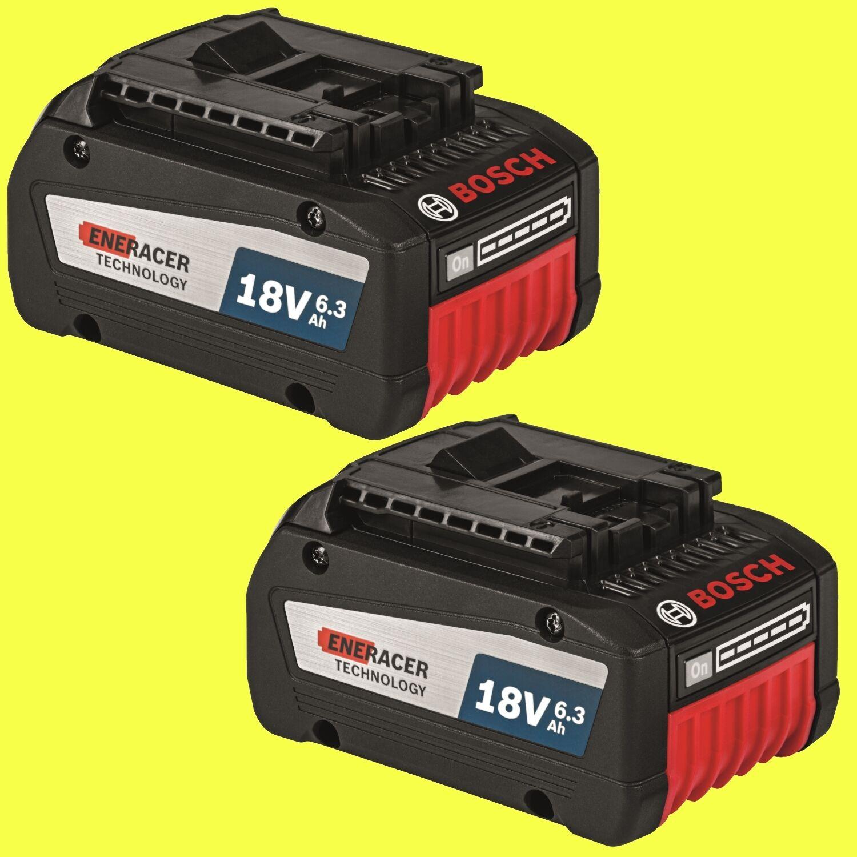 2x Original Bosch Ersatz Akkus GBA 18 Volt 6,3 Ah EneRacer 0615990J02