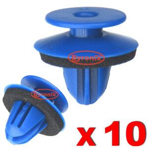 Arco-De-Rueda-Recortar-Clips-De-Plastico-Azul-Para-Audi-Q3-Trasero-Exterior-Cuarto-de-moldeo
