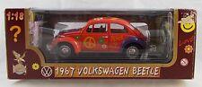 Road Legends 1967 Volkswagen Beetle Orange Flower Power 1:18  Diecast MIB V4