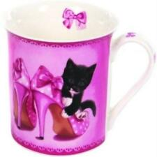 SUKI GIFTS BLACK AND WHITE CAT IN A SHOE MUG GIFT BOXED  GIFT NEW