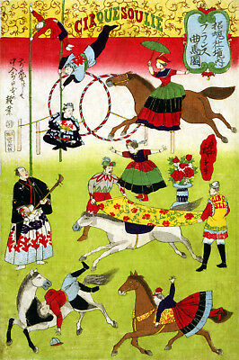 Vintage Circus POSTER print.Stylish Graphics.Cirque Soulie.Asian art Decor.767