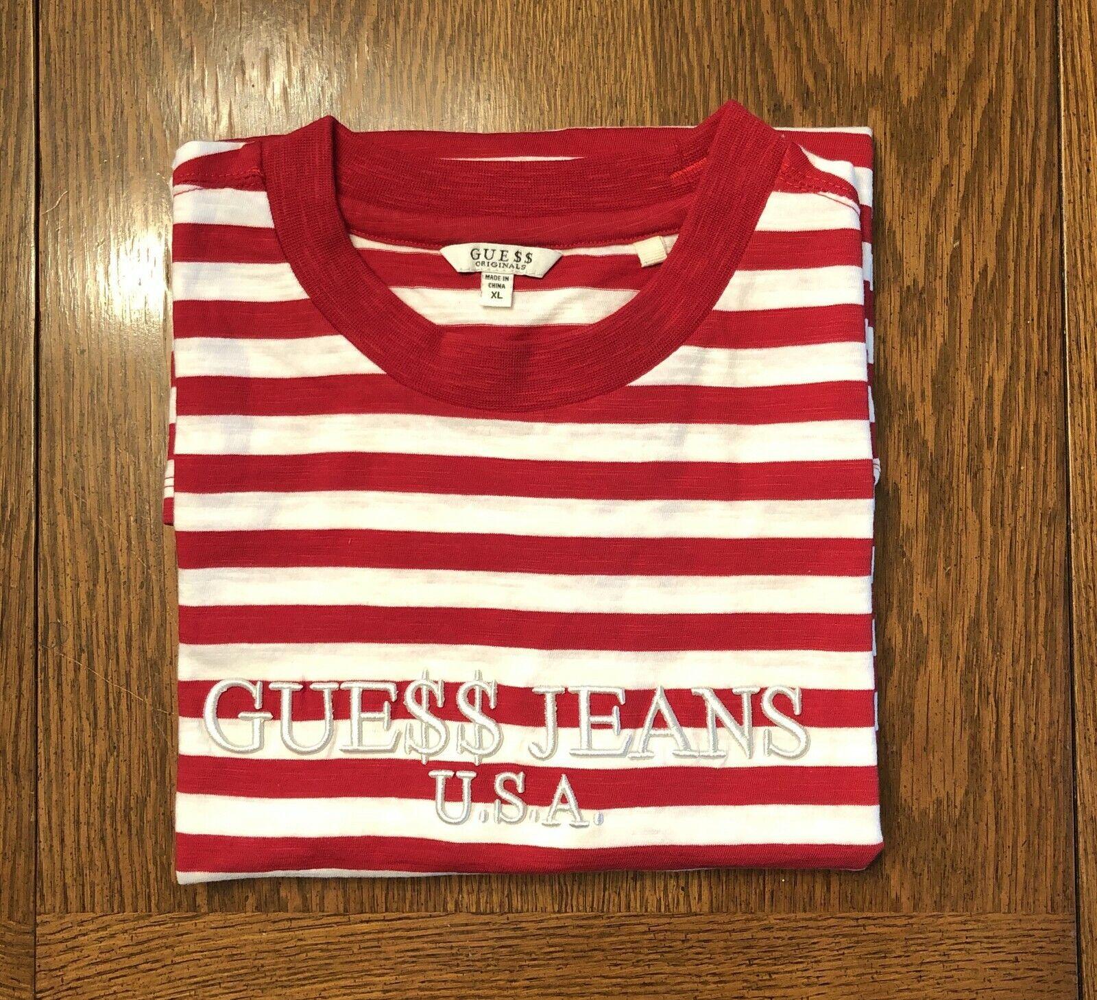 Guess x ASAP Rocky rot Striped T hemd - Größe XL