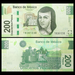 Mexico-200-Pesos-Banknote-2015-2017-P-125-NEW-UNC-North-America-Paper-Money